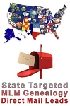 State Targeted Direct Mail MLM Genealogy Leads