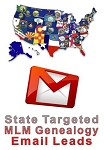 State Targeted MLM Genealogy Email Leads