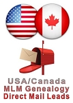 USA/Canada Direct Mail MLM Genealogy Leads