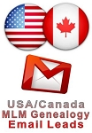 USA/Canada Targeted MLM Genealogy Email Leads